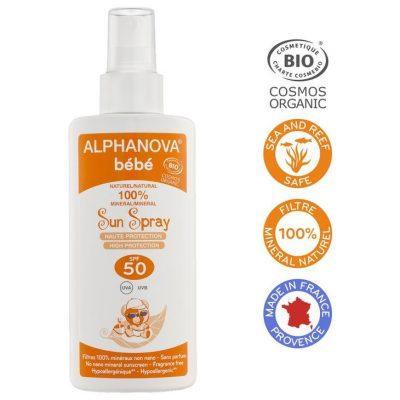 Alphanova zonnebrand spray SPF50 baby